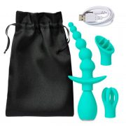Cloud 9 Health & Wellness Anal Clitoral & Nipple Massager Kit Teal